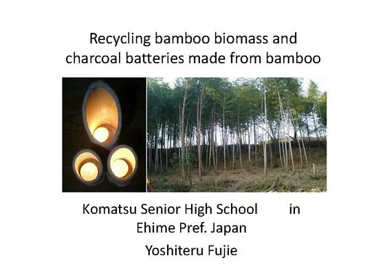 Recycling bamboo biomass and charcoal batteries made from bamboo (竹バイオマスのリサイクルと竹炭電池)